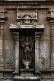 Bellezza di Lord Durga Statue - tempio di Thanjavur il grande fotografie stock