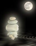 Bellezza di luce della luna di zen Fotografie Stock