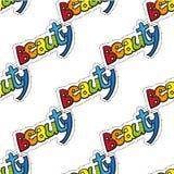 Bellezza di parola con i colori dell'arcobaleno Fotografie Stock