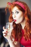 Bellezza di Redhead fotografia stock