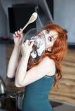 Bellezza di Redhead fotografie stock