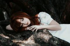 Bellezza di sonno fotografie stock
