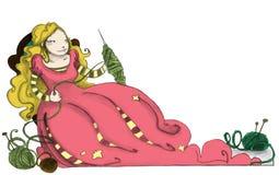 Bellezza di sonno illustrazione di stock