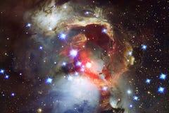 Bellezza di spazio cosmico Carta da parati della fantascienza illustrazione di stock