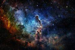 Bellezza di spazio cosmico Carta da parati della fantascienza royalty illustrazione gratis