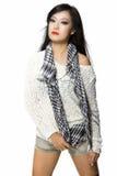 Bellezza Donna-Tailandese di modello asiatica di origine etnica Fotografia Stock Libera da Diritti