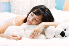 Bellezza-dorma Immagine Stock Libera da Diritti