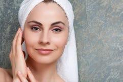 Bellezza e cura di pelle Fotografia Stock Libera da Diritti
