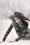 Bellezza e neve fotografia stock libera da diritti