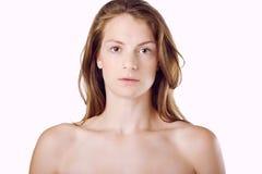 Bellezza e salute naturali della donna Fotografie Stock Libere da Diritti