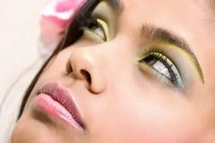 Bellezza gialla/blu Fotografia Stock