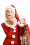 Bellezza il Babbo Natale di natale Immagine Stock