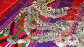 Bellezza indiana di cose delle signore del jewell dell'argento dei gioielli della cultura dell'India fotografia stock libera da diritti