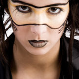 Bellezza mascherata fotografia stock