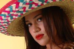 Bellezza messicana Fotografia Stock Libera da Diritti
