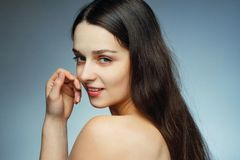 Bellezza naturale con pelle perfetta Immagini Stock Libere da Diritti