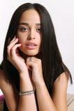 Bellezza naturale, giovane donna con pelle d'ardore sana Immagine Stock Libera da Diritti
