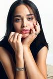 Bellezza naturale, giovane donna con pelle d'ardore sana Fotografia Stock Libera da Diritti