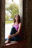 Bellezza nella finestra Fotografia Stock Libera da Diritti