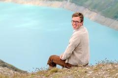 Bellezza nelle alpi dello svizzero del turchese Immagine Stock