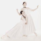 Bellezza romantica Retro ballerine di stile Fotografie Stock Libere da Diritti