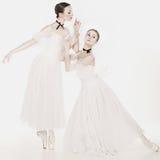 Bellezza romantica Retro ballerine di stile Immagine Stock Libera da Diritti