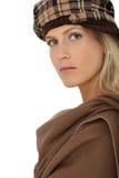 Bellezza sicura in vestiti di inverno Fotografia Stock