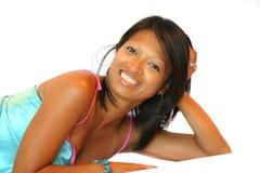Bellezza sorridente Immagini Stock Libere da Diritti