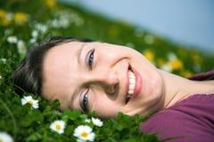 Bellezza sorridente Fotografia Stock