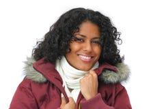 Bellezza sorridente di inverno Fotografia Stock Libera da Diritti