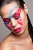 Bellezza sparata di volto del faceart Immagine Stock