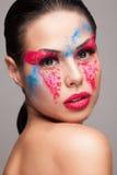 Bellezza sparata di volto del faceart Fotografia Stock