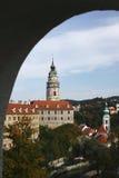 Bellezza storica ceca - Cesky Krumlov Fotografia Stock Libera da Diritti