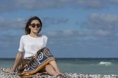 Bellezza sulla spiaggia Fotografie Stock Libere da Diritti