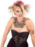 Bellezza tatuaata selvaggia Fotografie Stock Libere da Diritti