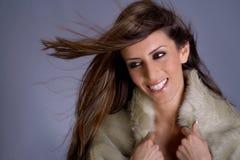 Bellezza turca con capelli lunghi Fotografie Stock Libere da Diritti