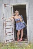 Bellezza in una porta Fotografia Stock Libera da Diritti