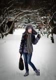 Bellezza in una sosta di inverno Fotografia Stock Libera da Diritti