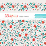 Bellflower floral element, wedding design Royalty Free Stock Photo