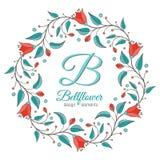 Bellflower floral element, wedding design Stock Images