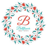 Bellflower floral element, wedding design Stock Photos