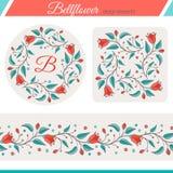 Bellflower floral elements, wedding design Stock Photo
