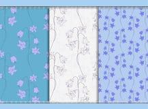 Bellflower seamless background Stock Photo