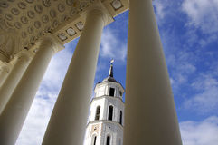Bellfre tower of cathedral of Vilnius Royalty Free Stock Photo