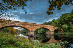 Bellingham bro över den norr Tynen Royaltyfri Bild