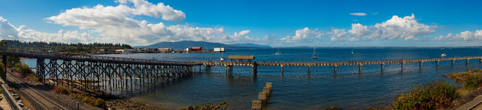 Bellingham-Hafen pano Lizenzfreie Stockbilder