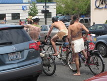 Bellingham naked bicycle stock photography