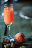 Bellini alcoholic cocktail Royalty Free Stock Photo