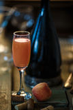 Bellini alcoholic cocktail Stock Image