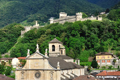 стародедовская церковь Швейцария замока bellinzona Стоковая Фотография RF